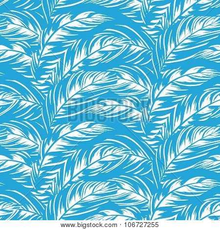 Abstract pattern inspired by tropical birds