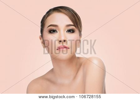 woman with beauty face and perfect skin
