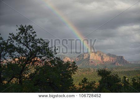 Rainbow Over Sedona, Arizona