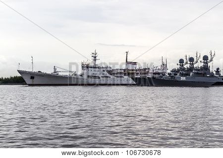 Warships In The Town Of Kronstadt