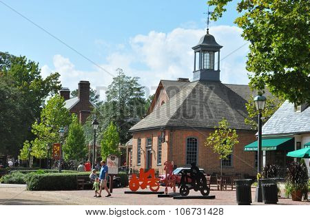 Merchants Square in Colonial Williamsburg, Virginia