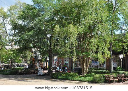 Merchants Square in Colonial Williamsburg, Virginia