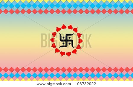 Holy Swastik sign on Cool BG, Hindu Devotional
