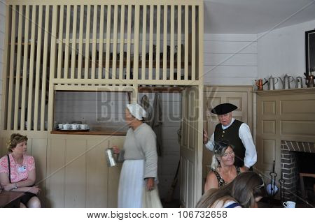 R. Charlton's Coffeehouse in Colonial Williamsburg, Virginia