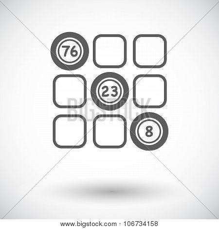 Keno flat icon