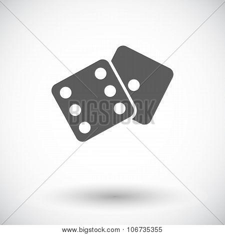Craps flat icon