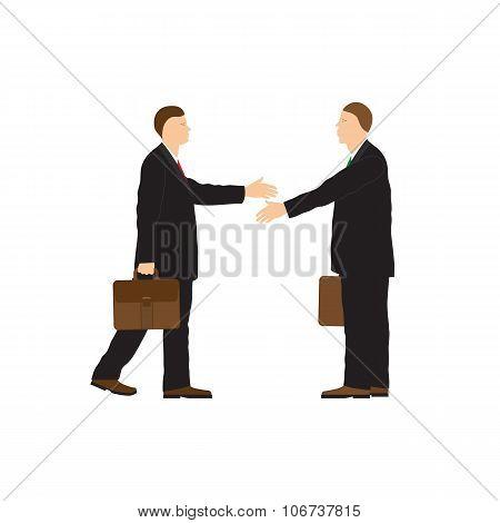 Two Businessmen. Handshake.