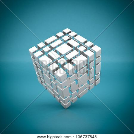 White Geometric Figure