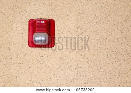Red Fire Alarm Light