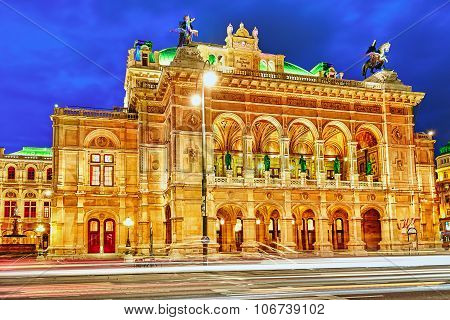 Vienna State Opera Is An Opera House.it Is Located In The Centre Of Vienna, Austria. It Was Original