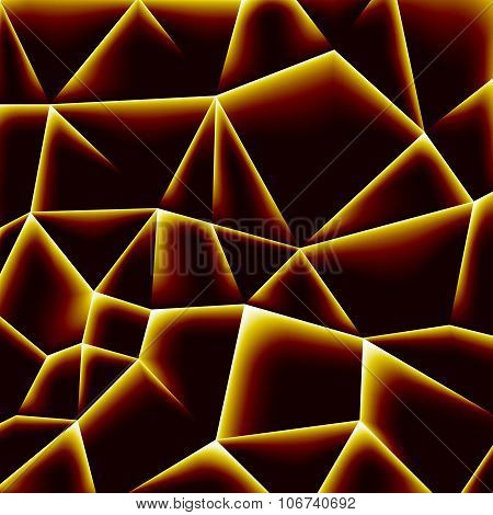 Vector Abstract Background With Orange Molten Particles