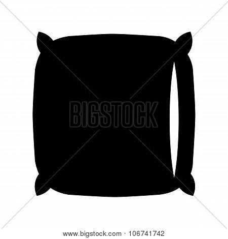 Pillow black icon