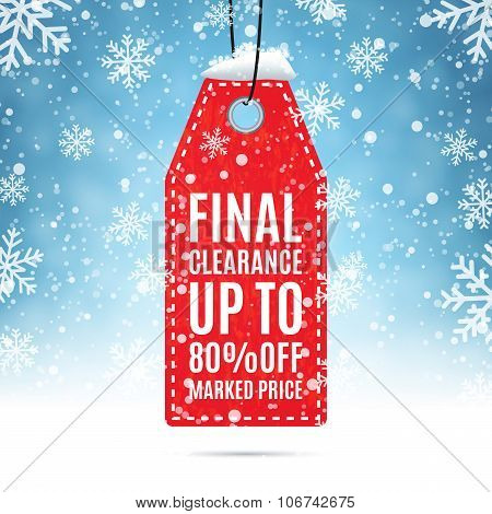 Final clearance price tag