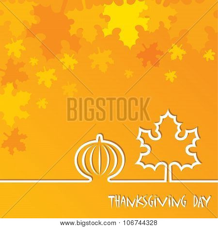 Creative Thanksgiving Day Background stock vector
