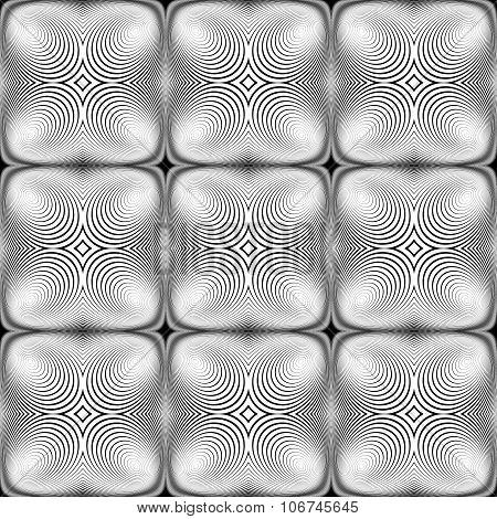 Design Seamless Monochrome Ellipse Background
