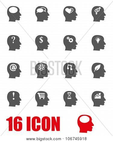 Vector Grey Thoughts Icon Set