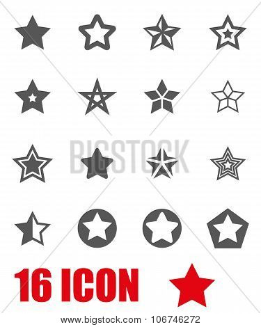 Vector Grey Stars Icon Set