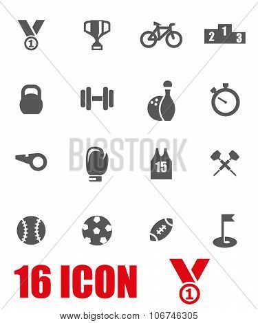 Vector Grey Sport Icon Set