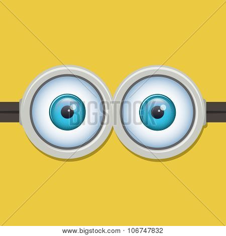 Two eyes glasses or goggles. Vector illustration