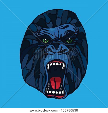 Growling Gorilla Tattoo
