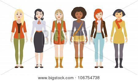 Six female characters