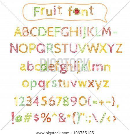 Sketchy Fruit Alphabet