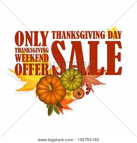 Thanksgiving day sale poster