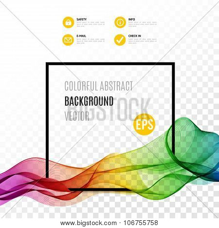 Abstract colourful wave vectro illustration
