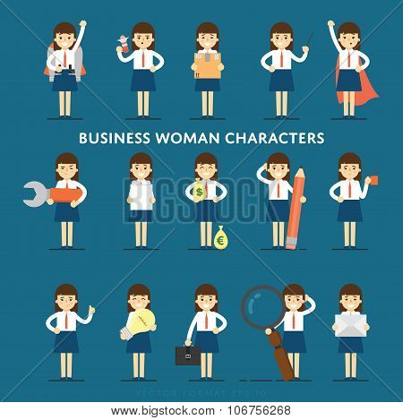 Woman characters. Woman set. Young Woman. Vector people. Diverse group of people. Woman isolated. Woman smile. Group of Woman. Casual style Woman. Positive people. Flat design. Woman profile.