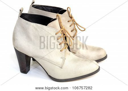 Female Gray Suede Shoes