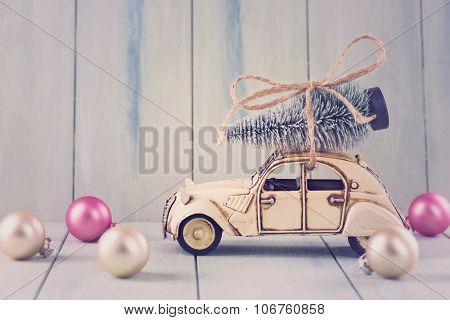 Pastel colored decoration for christmas