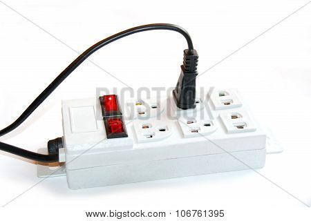 Electrical Plug / Outlet isolate on white background