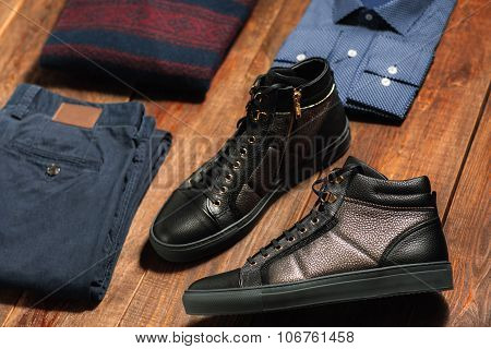Fashionable Warm Menswear Set
