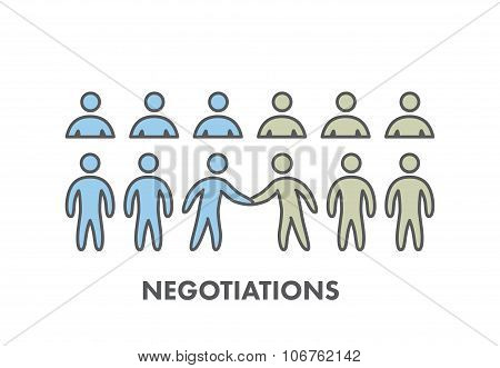 Line Icon Business Negotiation. Vector Business Symbol