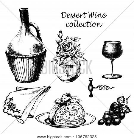 Dessert wine set