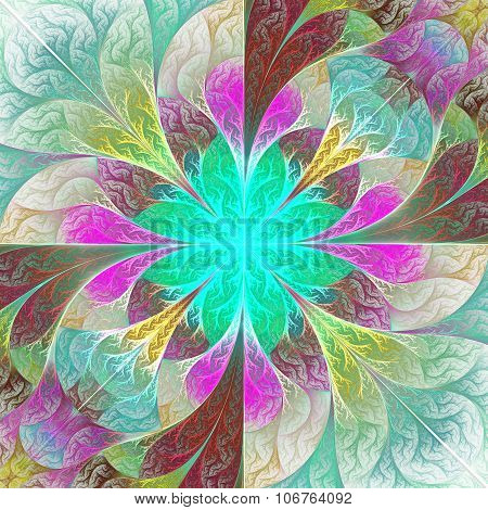 Beautiful Fractal Flower. Element Of Design. Artwork For Creative Design