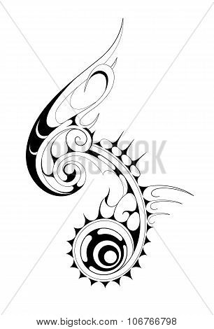 Ethnic tattoo shape