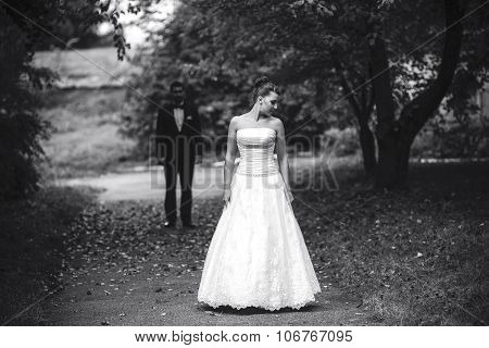 Bride waiting for her bridegroom