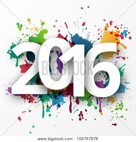 Happy 2015 new year with  spray paint.