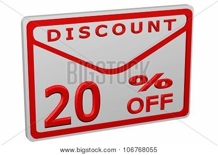 Envelope With Sign Discount 20 % Off