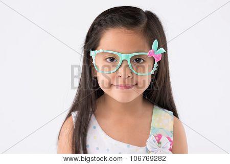 Girl in rabbit glasses