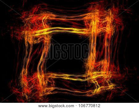 Abstract fire frame with copy space