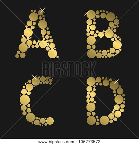 Golden letter set