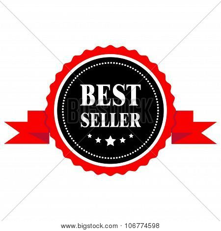 Best Seller Badge With A Ribbon.
