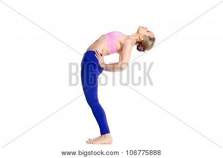 Yogi Female Doing Half Wheel Pose