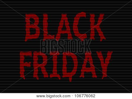 Illustration of Black friday