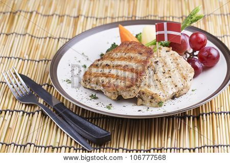 Pork Steak On The Plate