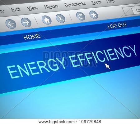 Energy Efficiency Concept.