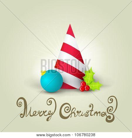 Christmas celebration hat card.