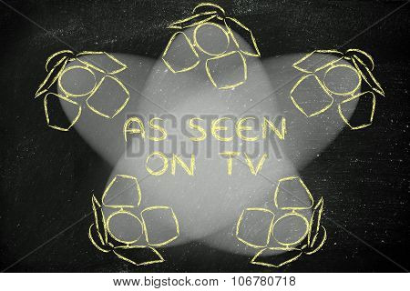 Spotlights With Text As Seen On Tv